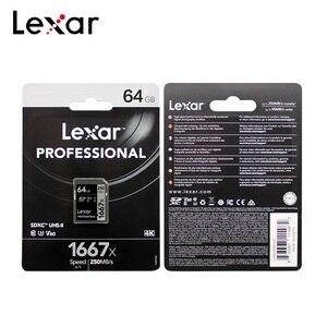 Image 5 - Lexar Professional 1667x SDXC UHS II SD kart 64GB 128GB 256GB 250 mb/sn güçlü yüksek hızlı hafıza kartları v60 U3 Class10 SD kart