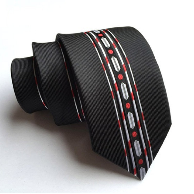 Skinny Tie Necktie For Men Polyester 6CM Personality Print Flower Strips Ties Casually Business Neckwear