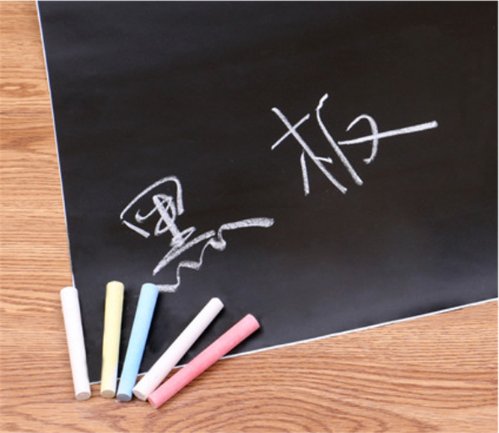 100pcs 45x200cm Chalkboard Self Sticker Removable Whiteboard Home Decals Presentation Board DIY With Marker Pen Whiteboard