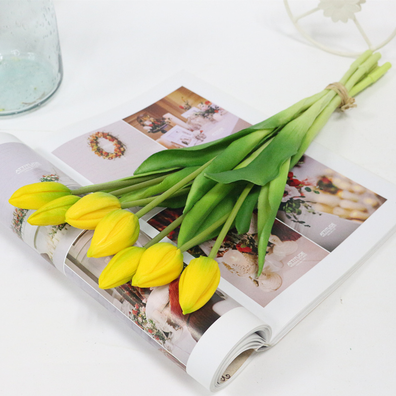 JAROWN Simulation Of Real Tactile Tulip Artificial High Quality Latex Tulip Bouquet Flores For Wedding Decoration Home Decor (15)