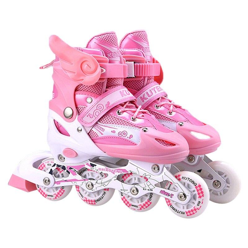 Patins à roulettes En polyuréthane pour enfants, patins à roulettes, Patines En Linea avec casque, coudière réglable, Slalom En ligne comme Seba IA71