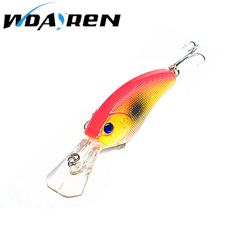 1Pcs Wobbler Pesca Vib Crankbait 3D Eyes Fishing Lure 9cm 11.8g High Quality Fishing Bait 6# Strong Treble Hooks Fish FA-282 high quality fishing lure fish bait 6 section jointed vib lure 10cm 17g wobbler vibration bait swimbait fishing tackle
