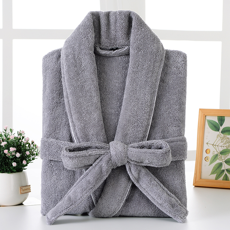 Bathrobe Men Winter Plus Size XXL Flannel Towel Fleece Warm Bathrobe Grey Kimono Bath Robe Bridesmaid Dressing Gown Christmas