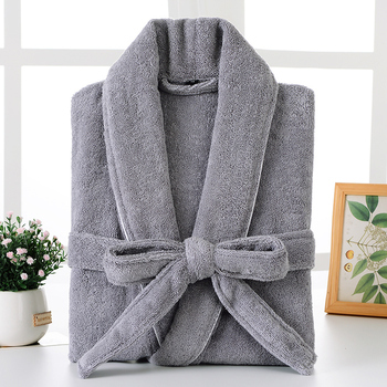 Bathrobe Men Winter Plus Size XXL Flannel Towel Fleece Warm Bathrobe Grey Kimono Bath Robe Bridesmaid Dressing Gown Christmas цена 2017