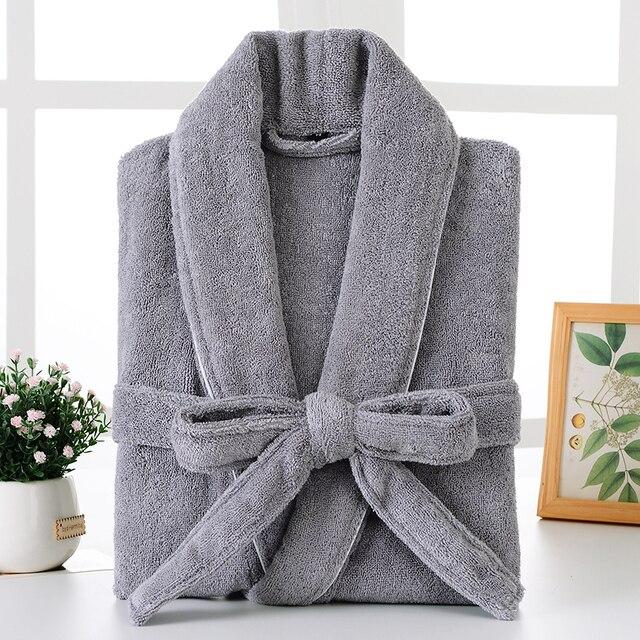 Bathrobe Men Winter Plus Size XXL Flannel Towel Fleece Warm Bathrobe Grey Kimono Bath Robe Bridesmaid Dressing Gown Christmas