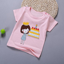 2019 New Boys Girls Clothes Cotton T Shirts Summer Toddler Boys Print T Shirt Girls Short Sleeve Soft Tops Children T-Shirts cheap Rainbow Angel Fashion REGULAR O-Neck Tees Fits true to size take your normal size Unisex hong yuan