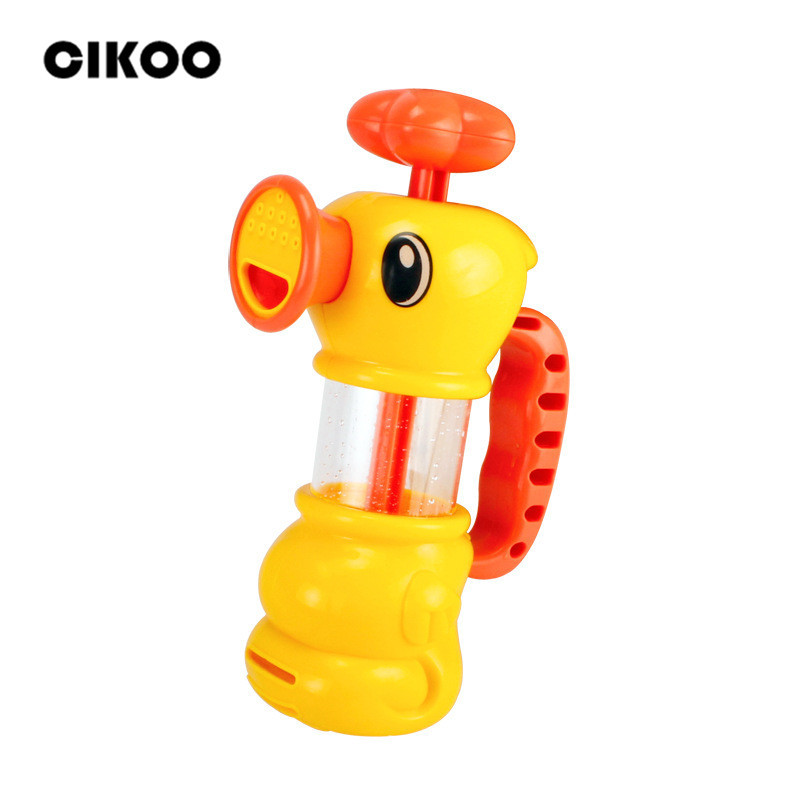 Cikoo ABS Toy for Kids Water Pistol Spray Pump Duck Swimming Pool Bathtub Bath Toys for Girls and Bays Two Ways of Water Spray