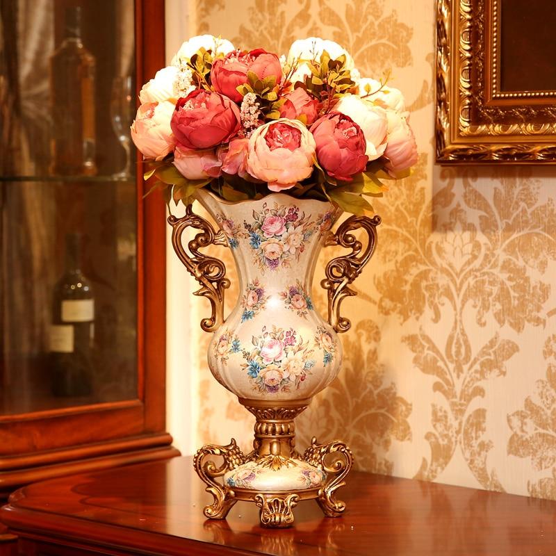 Amerikanischen Tisch Dekorationen Heimtextilien Vase Wohnzimmer Tv Schrank Floral Dekoration Simulation