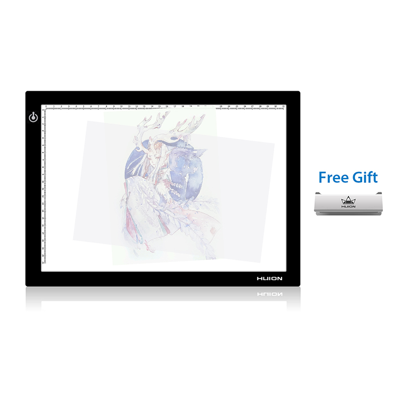 HUION L4S 17 7 Inches LED Light Pad A4 with USB Cable Ultra thin Adjustable Light