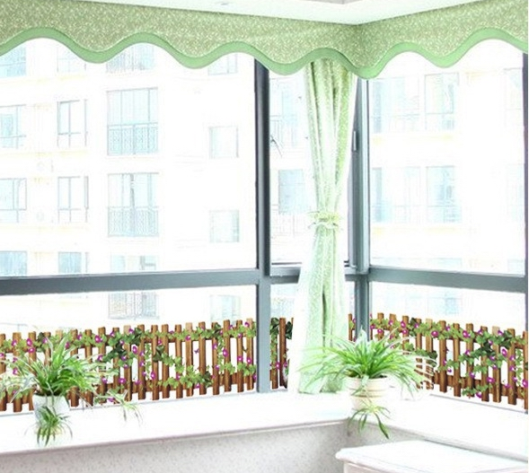 Glass Front Kids Room Decor: Wood Fence Vinyl Window Stickers Decals Vinyl Decorative