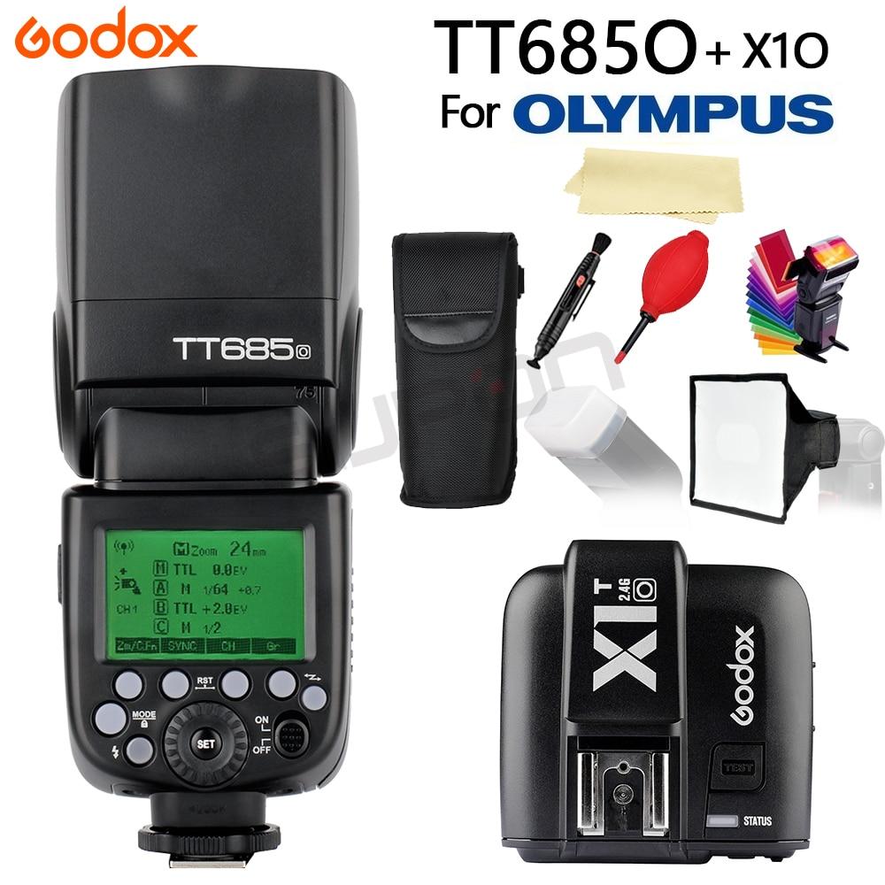Godox TT685 TT685O 2.4g HSS 1/8000 s je-TTL GN60 Sans Fil Speedlite Flash + X1T-O Trigger pour Olympus Panasonic DSLR Caméra + CADEAU
