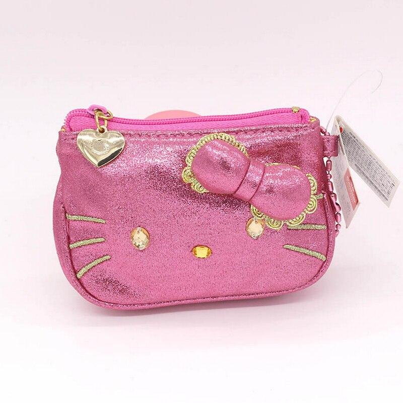 Fashion cat Coin Purse Cartoon Cute Change Purse High quality PU pink zipper wallet Childrens gift