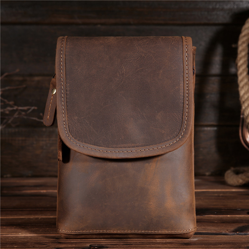 Fanny Pack Waist pack Bags Vintage women Men's Genuine Crazy Horse Leather Hip Belt Bum Pack Loop Travel Phone Purse Pouch B2093 jiahui usb female to ps2 male converter adapter for usb mouse keyboard black