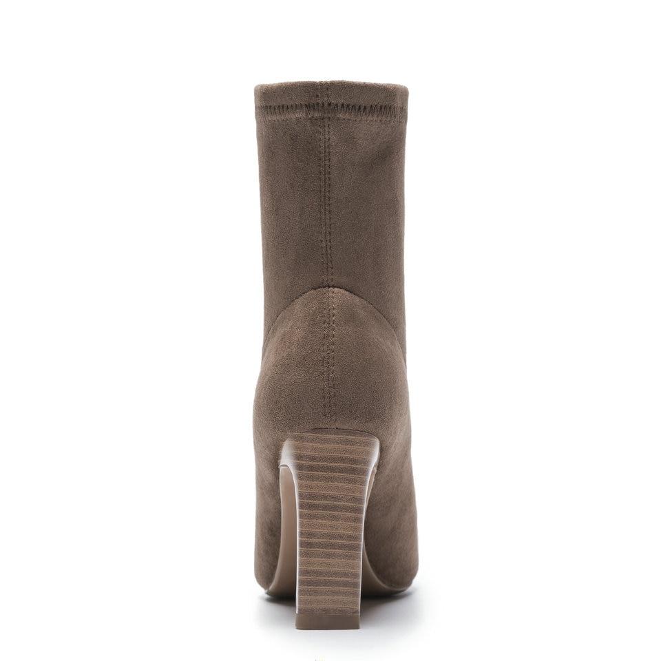 Cuir 40 Bottes Élégantes gris Bout Chaussette brown Taille Chaussures Femme Pointu 34 En Mince Talons À Cheville Noir Dames Eshtonshero Hauts Hiver D'équitation PSfpqp