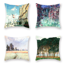 Poppy Field Cushion Pillowcase Near Witney Woman Throwing A Decorative Home Cover In Monet Garden Character Landscape