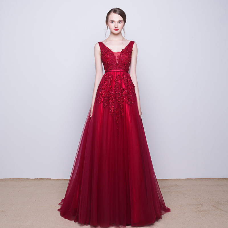 Vintage Wedding Dresses Dallas: It's Yiiya New Sleevesless Romantic Grey Pink Formal