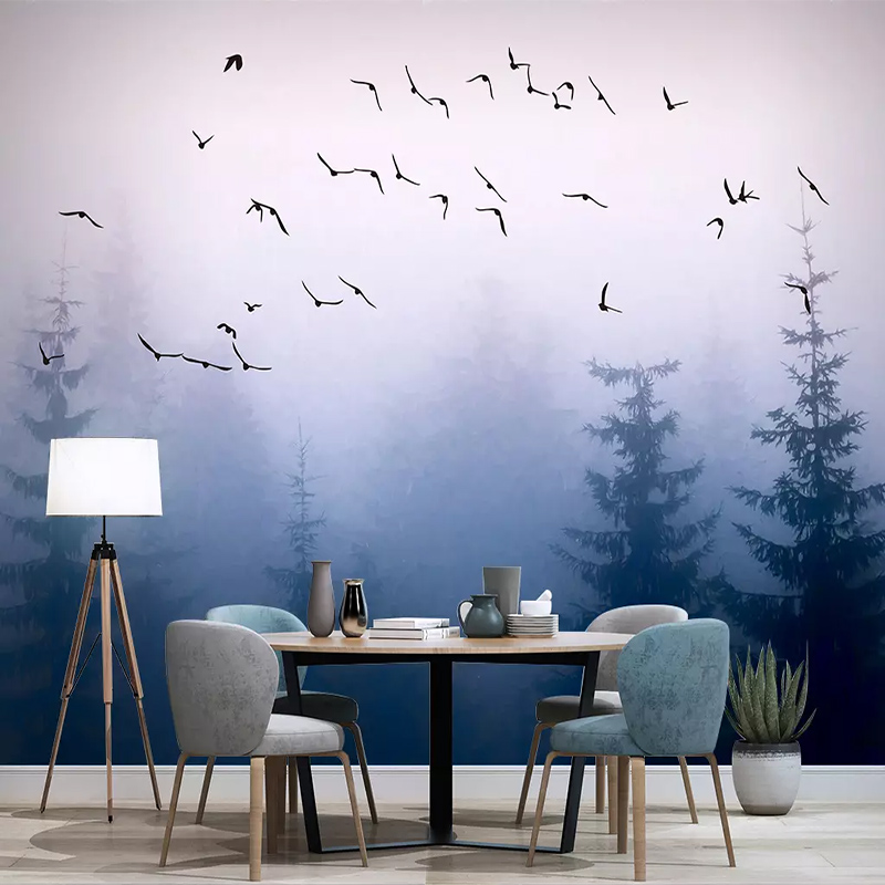 3D Photo Wallpaper Nordic Fantasy Forest Modern Cloud Bird Wall Cloth Wall Painting Living Room Study Home Decor Papel De Parede