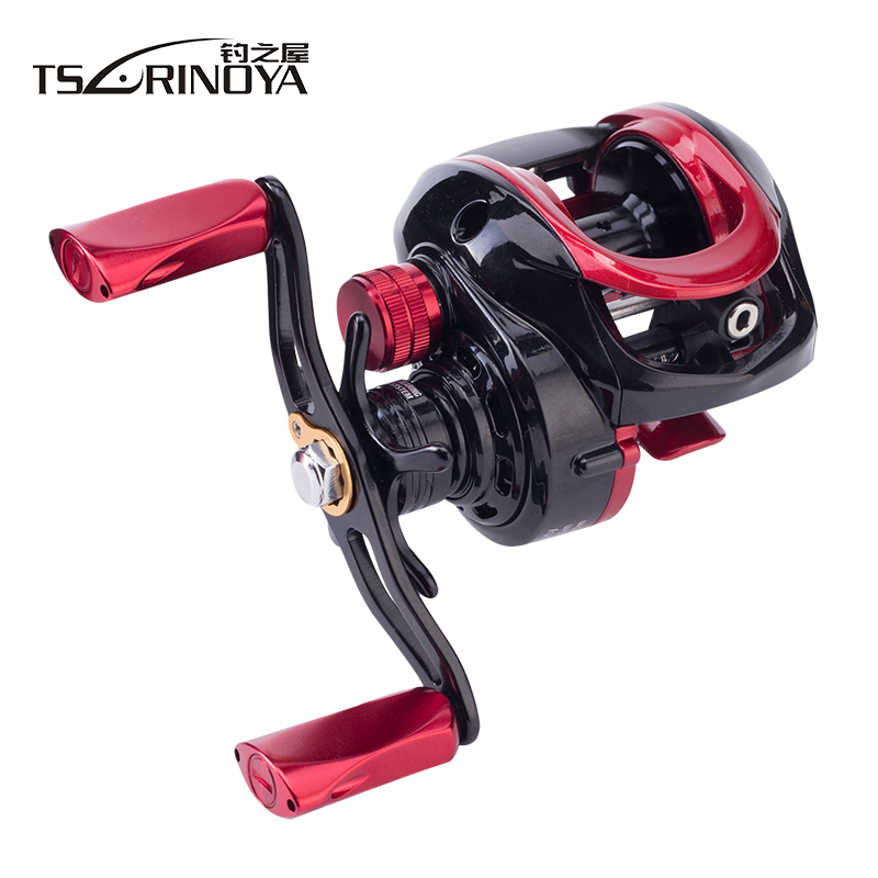 TSURINOYA 6.6:1 Large Profile Ulttra Light Bait Casting Reel Left Right Hand Aluminum Alloy Spool Baitcasting Reel Fishing Reels 12 1bb 6 3 1 left right hand casting fishing reel cnc fishing reels carp bait baitcasting carretilha de pesca molinete shimano