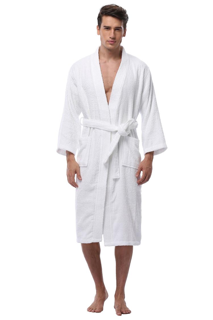 76fcbd91f8 Men s Kimono Bathrobe Turkish Cotton Robes Plus Size Lightweight Long Robe  For Men Absorption After Shower Bathrobe Sleepwear