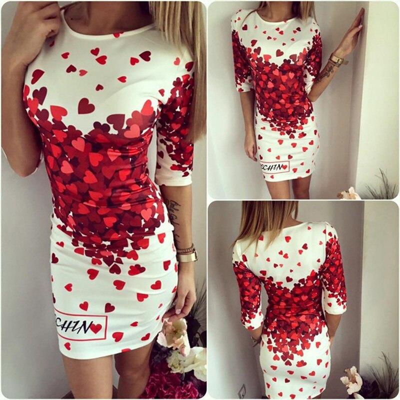 Plus Size Women Cartoon Print Slim Dress Short Sleeve 2019 New Fashion Casual bodycon Mini Summer Print Dresses Women Vestidos 5