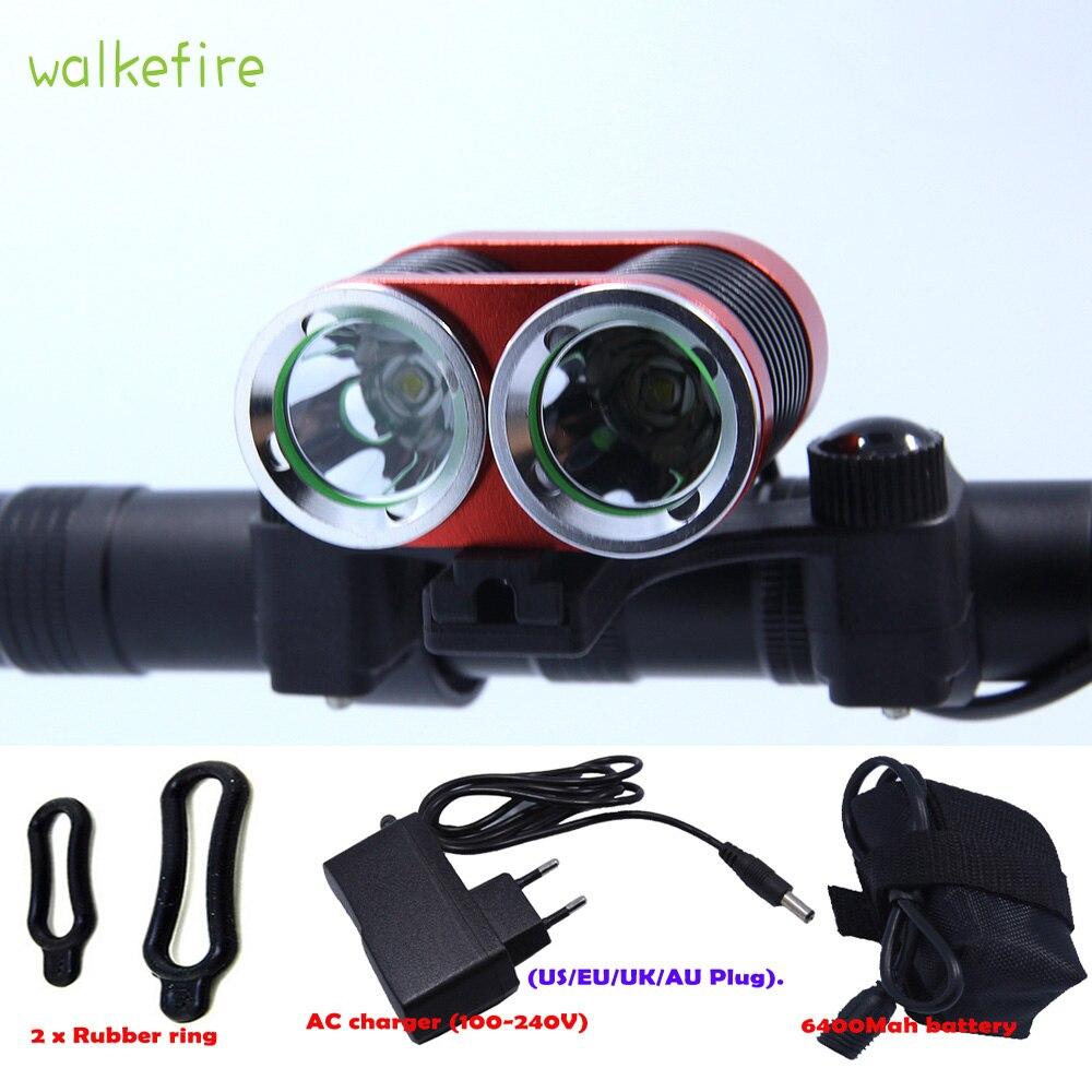 8000lm T6 LED Lampe Torche USB Chargement Pince Lumière la Recherche Équipement