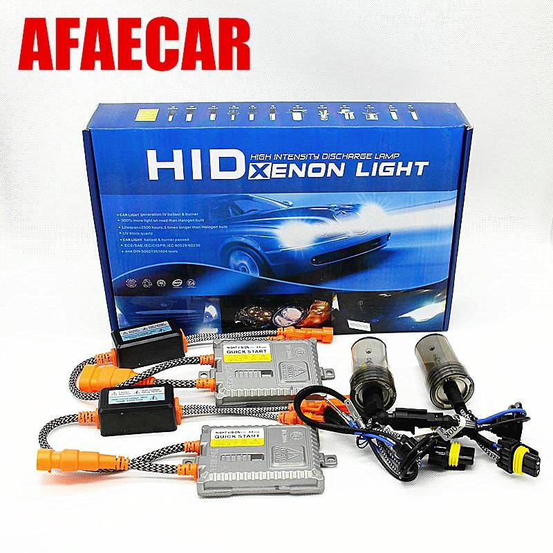 AFAECAR наивысшего качества xenon H1 H3 H7 H8 H9 H11 9005 HB3 9006 HB4 HID фар Комплект 5500 К