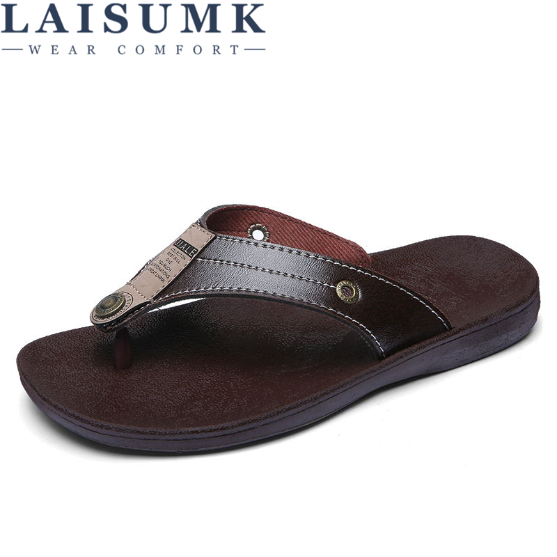 719c8a85355f3e Detail Feedback Questions about LAISUMK New Arrival Summer Cool Men Flip  Flops British Style Boardered Beach Sandals Non slide Male Slippers Zapatos  Hombre ...