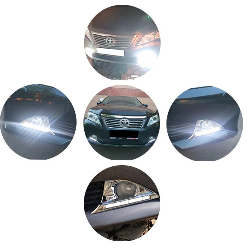 SUNKIA 2Pcs / Set High Bright Car LED DRL ցերեկային - Ավտոմեքենայի լույսեր - Լուսանկար 6