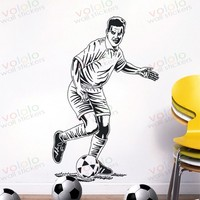 Free shipping Wall Stickers Wholesale and retail Wall decor PVC material decals wallpaper football star World Cup Z-210