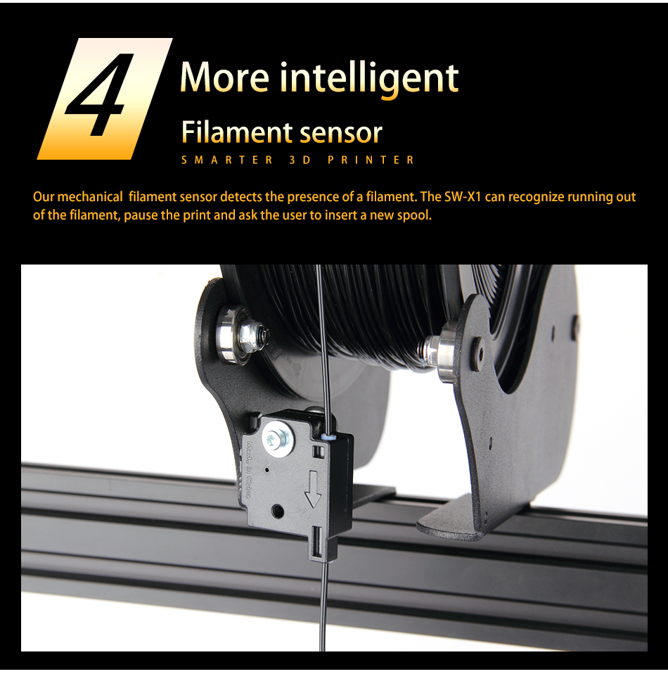 impressora 3d sidewinder x1 ultra-silencioso motorista duplo
