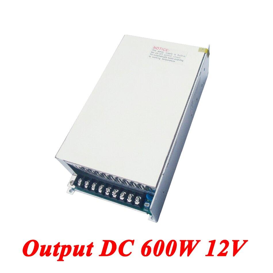Alimentation à découpage S-600-12 600 W 12 v 50A, alimentation à sortie unique ac-dc pour bande Led, transformateur AC110V/220 V à DC12V