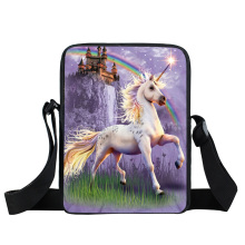 Cartoon Unicorn Prionted Crossbody Bag