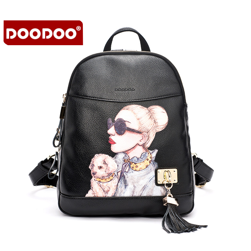 ФОТО PU backpack school travel bag backpack women famous brands back pack cartoon backpacks black High quality