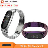 Mi jobs mi band 4 Bracelet en métal pour Xiaomi Band 4 3 Bracelet sans vis en acier inoxydable mi Band 3 poignet Bracelet intelligent