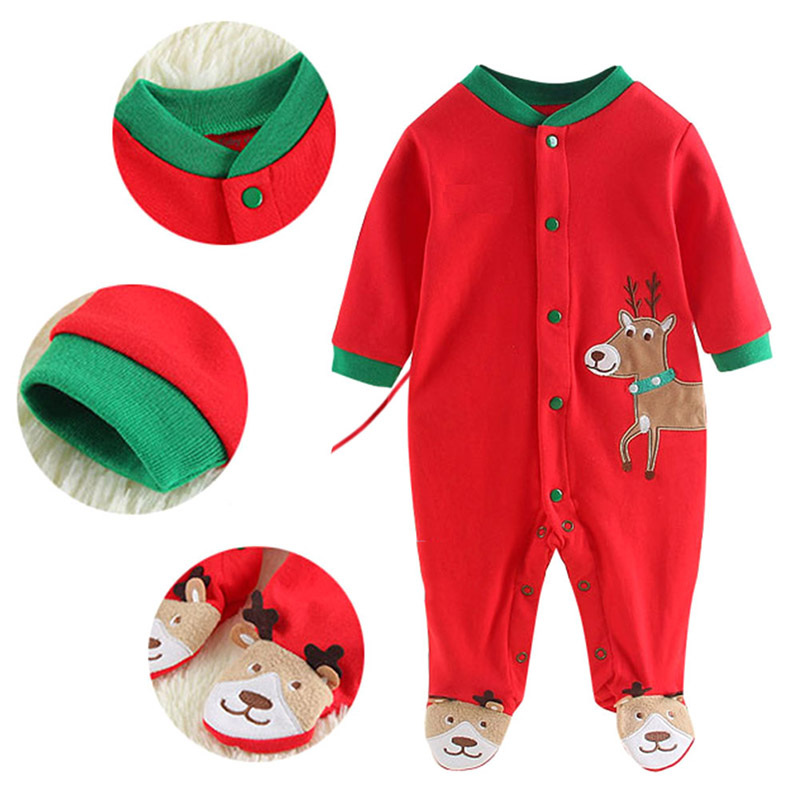 2019 Autumn Winter Newborn Baby Clothes Christmas Santa Newborn Bodysuits Baby Overall Baby   Romper   0-12 Months Baby Clothes