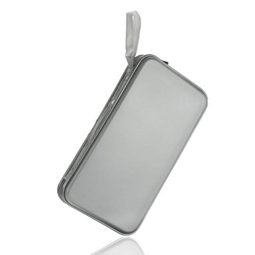 EDT-80 Disc CD DVD Carry Case Wallet Storage Holder Bag Hard Box - Silver ...