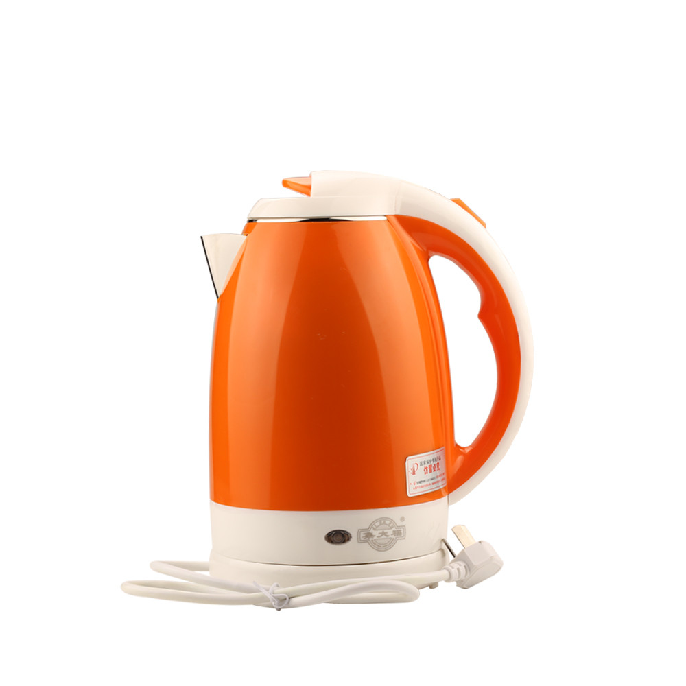 JDC-2000A  2L 1500W 220V SUS304 Cordless Electric Water Kettle Quick Heat  Water Heating Kettle White/green/orange Color