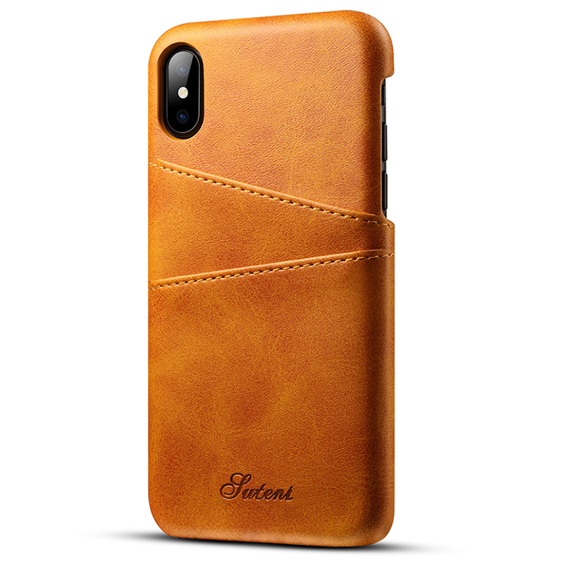 New Luxury PU Leather Wallet Card Case For iPhone X Business ...