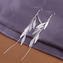 Estilo del verano fine silver plated pendientes 925-sterling-silver belleza joyería pendientes de gota para para SE317