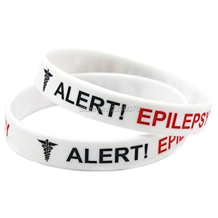 Epilepsy Epileptic Bracelet Awareness Medical Alert Various Colors White