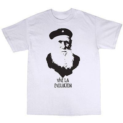 Charles Darwin Evolução T Shirt 100% Algodão Origem Das Espécies Ateu em  Camisetas de Dos homens de Roupas no AliExpress.com  0cd7ff045a3