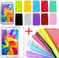 "Case For SAMSUNG Galaxy Tab 4 8.0"" 8"" Tablet T330 T331 T335 Silicone Gel Rubber Case Cover With T330 Screen Protector Film"
