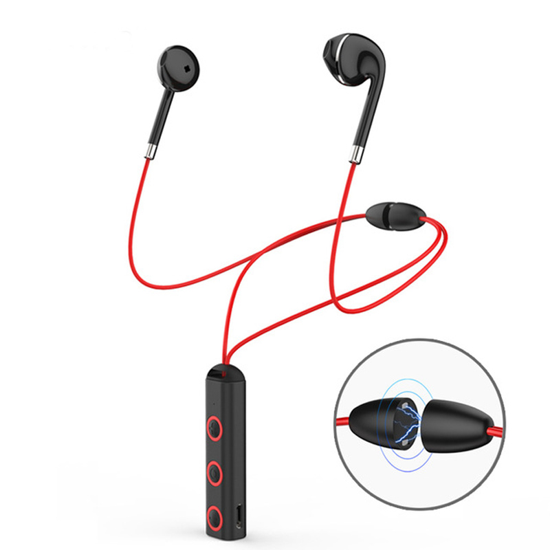 Bluetooth Earphone wireless headphones Sports bluetooth 4.1 magnetic earphone Stereo Earbuds Headset with Mic for phones