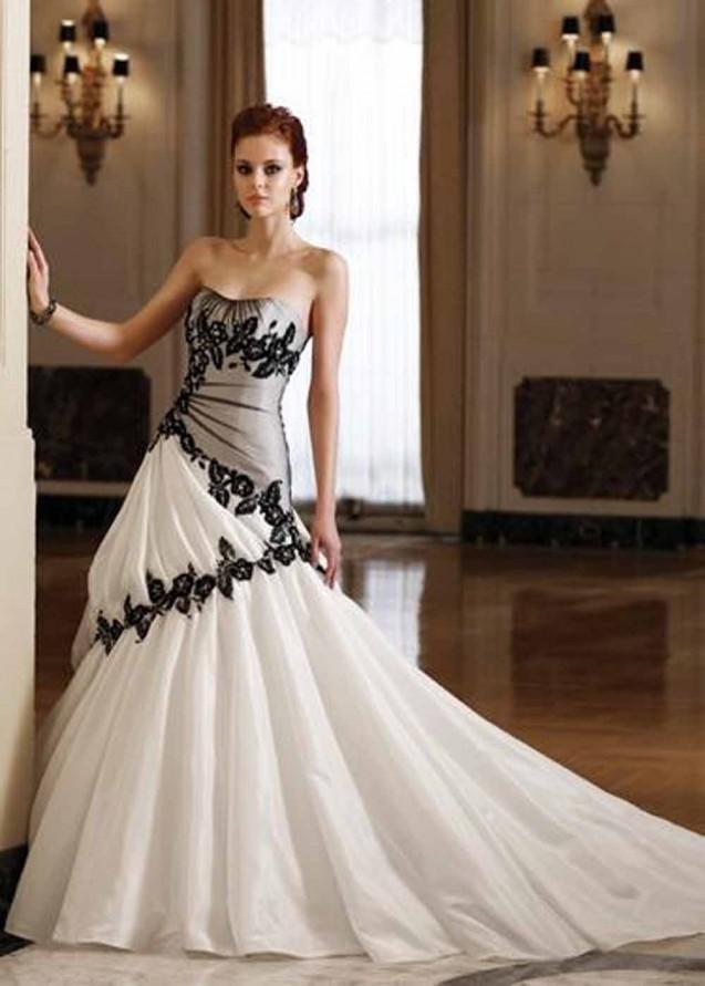 Popular Cheap Wedding Dress Black and White-Buy Cheap Cheap ...