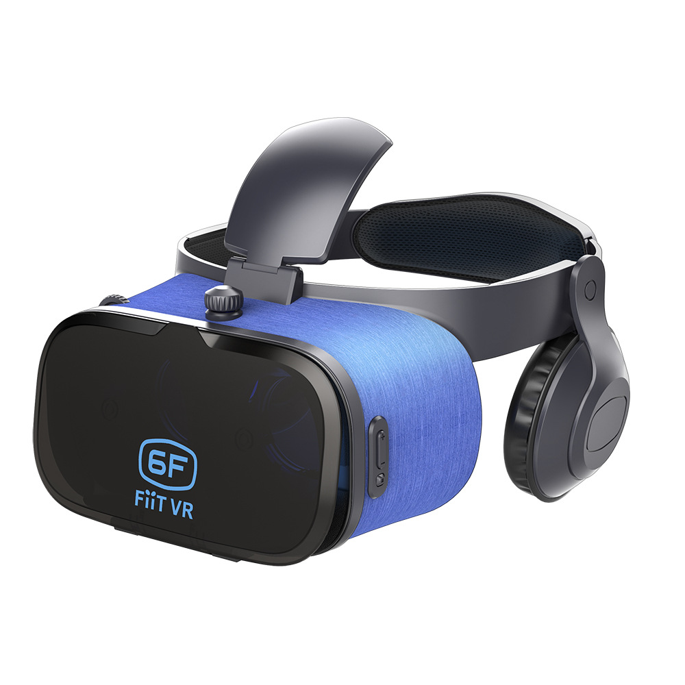 6F 3D virtual reality VR glasses case with HiFi headphones to watch movie videos цена и фото