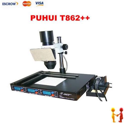 BGA rework station PUHUI T862++ , IRDA Welder Infrared Heating soldering Station BGA SMD machine