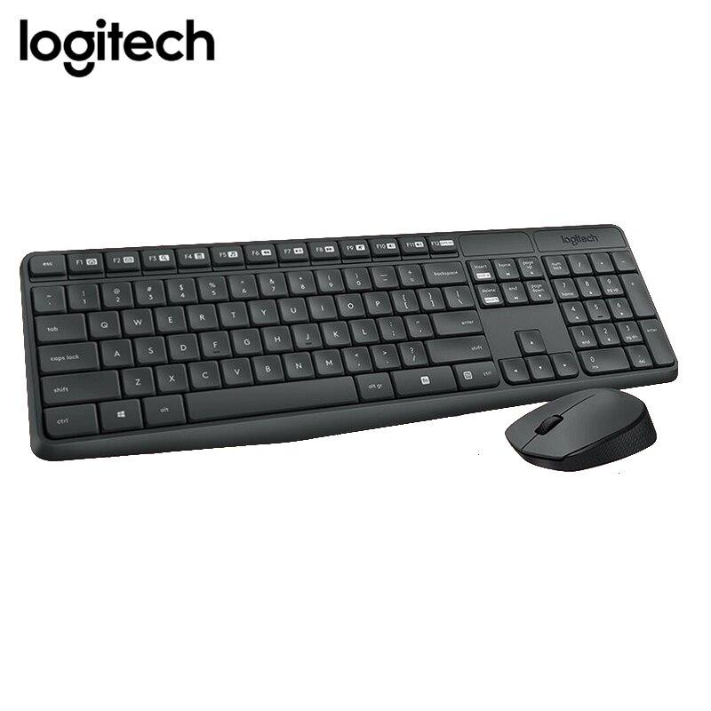 D'origine Logitech MK235 2.4g Sans Fil clavier de Jeu et Souris combo, teclado pc Portable Sans Fil Mause et Clavier ensemble