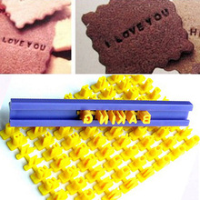 2021 Alphabet Letter Cookies Cutter Words Baking Mold Cake Frill Cutter Embossing Mould