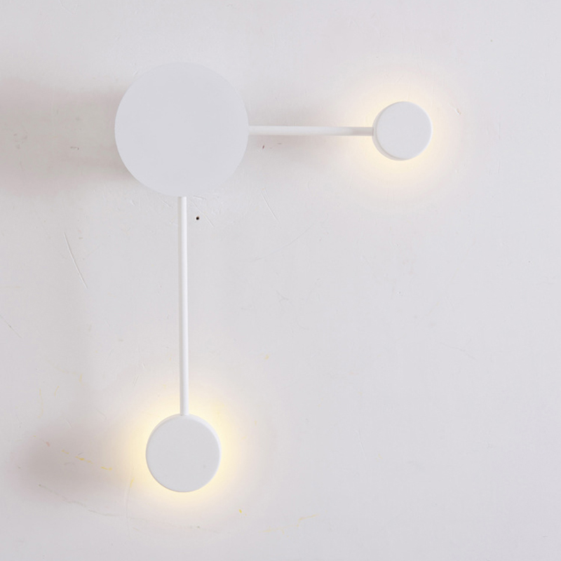 Image 5 - Postmodern wall lamp simple led living room wall lamp bedroom bedside creative aisle hotel exhibition hall corridor lighting-in LED Indoor Wall Lamps from Lights & Lighting