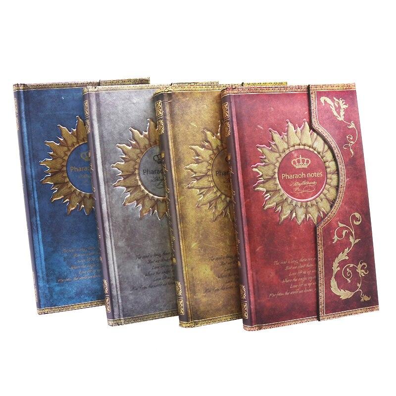 Courrier recommandé 2016 1 pcs Nouveau Mystérieux Rétro Aimant Boucle Magique Cahier Journal Bloc-Notes Européenne Page 192, taille 11.1*19.2 cm